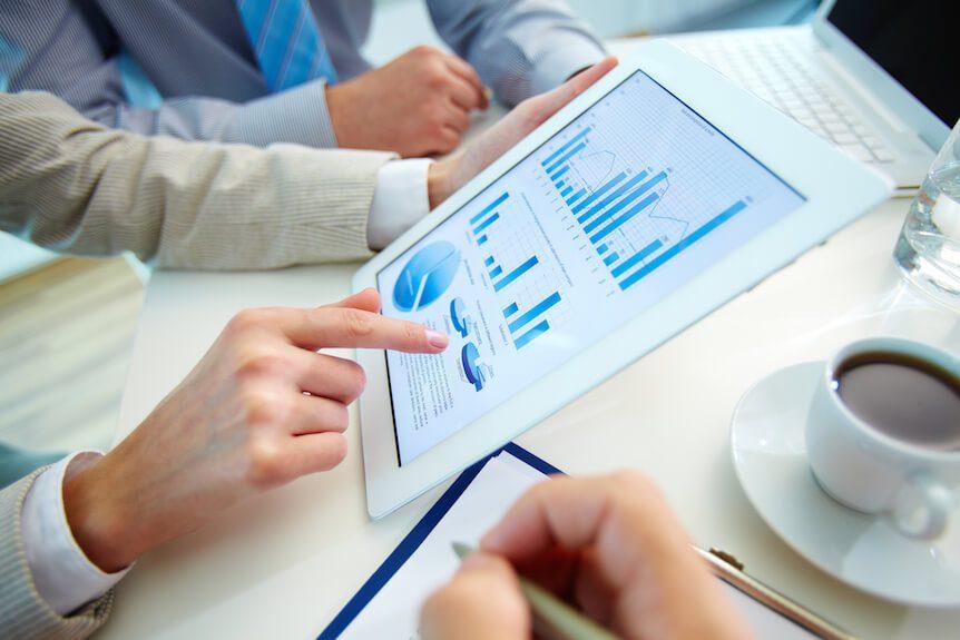 Financial Aid graph at a meeting for focusEDU.