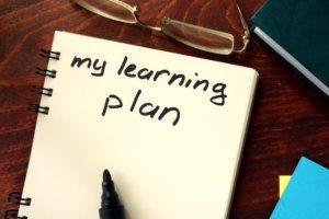 My Learning Plan written in a notebook.