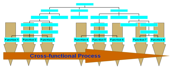 Graph showing cross functional process.