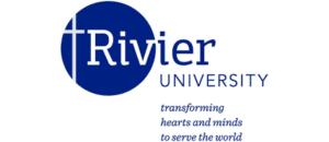 Rivier University logo.