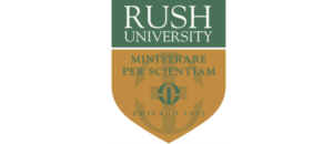 Rush University logo.