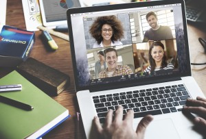 Video conference call remote leadership